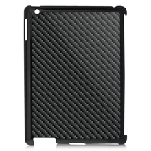 Universal Carbon Fiber Case For iPad, Light Effect Real Carbon Fiber Back Cover For iPad 2 3 4