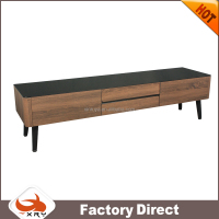 Langfang China MDF TV Stand with Glass LCD TV Cabinets Design