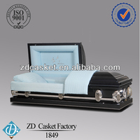 Blue crepe interior 18 gauge metal casket(1849)