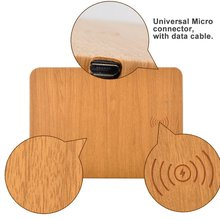 QI fast portable <strong>mobile</strong> <strong>phone</strong> stand wireless wood charger mouse pad