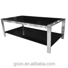 New Hottest Sale Competitive Price Table Top Glass Metal Leg Trade Assurance Customized Office Tea Desk/coffee Table