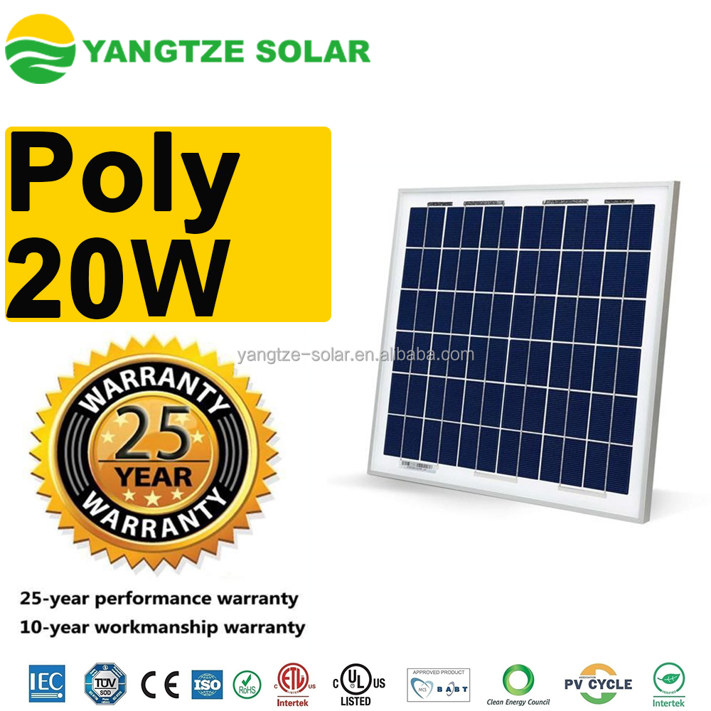 Grade A quality 20w small solar panel