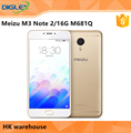 "Original Meizu M3 Note 2/16GB M681Q Flyme 5.1 Android 5.1 5.0"" MTK6755 Octa Core 4100mAh 4G Mobile phone Note M3 Meizu Gray Gold"