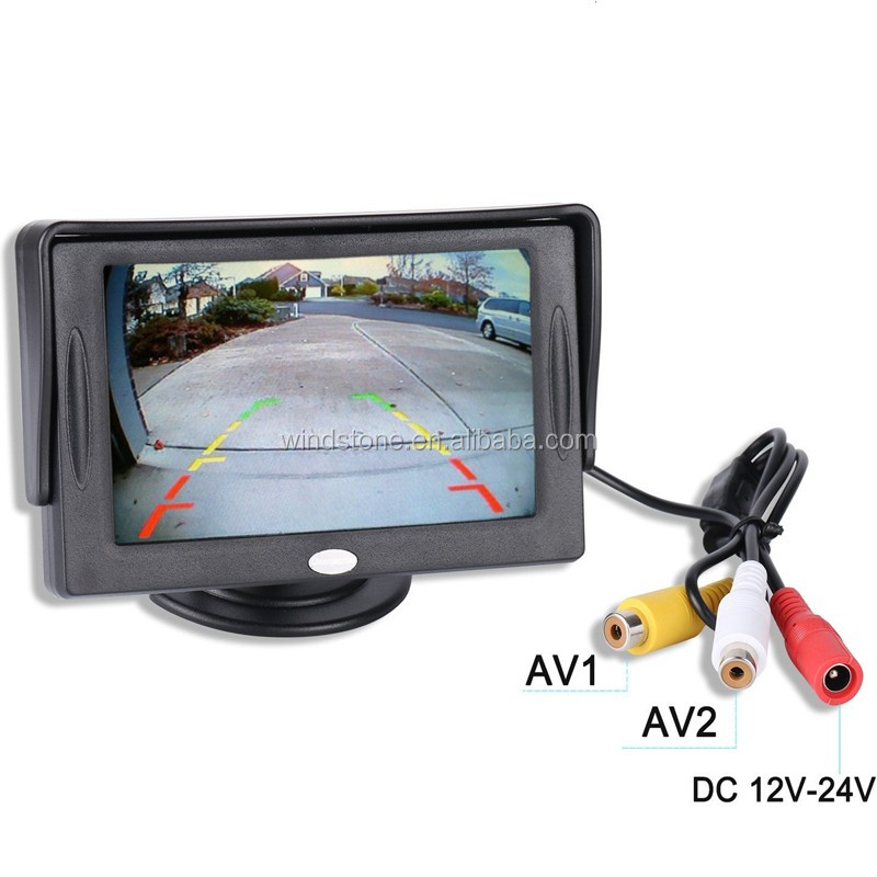 4.3 LCD Rear View Monitor License Plate Car Rear Backup Camera and Monitor Kit For Car,Universal Waterproof Car Parking System