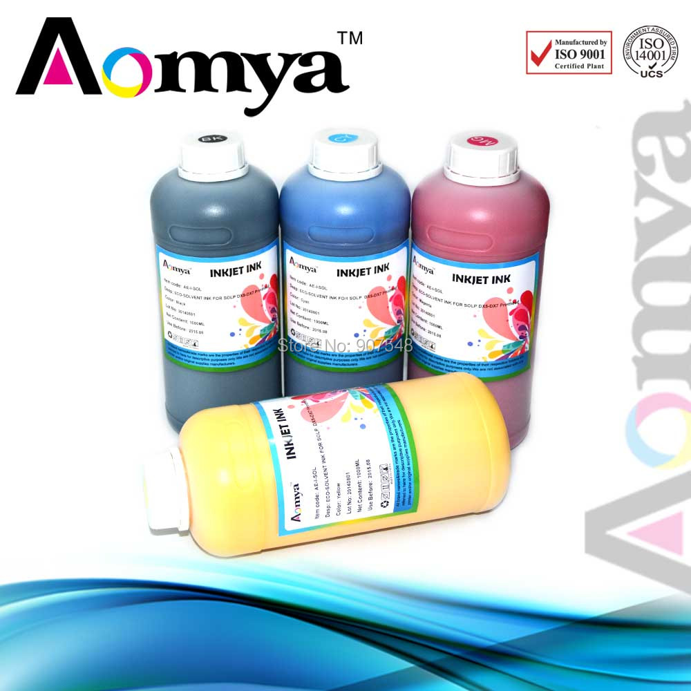 Eco solvent ink dye ink For Epson printer Head DX5/DX6