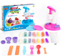QT4715121 Educational DIY toys set ice cream machine playdough set for kids