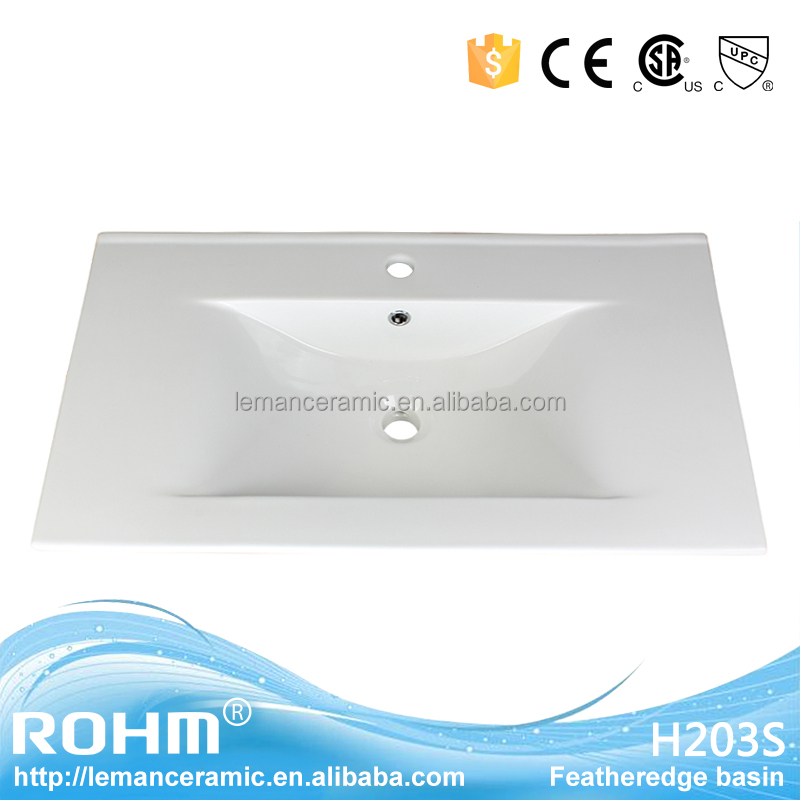 28 inch CE/CSA/UPC ceramic cabinet basin/thin basin sink for vanity/one piece bathroom sink and countertop H-203