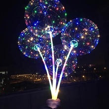 Wedding Decoration Custom Size <strong>12</strong> 18 36Inch Round Shape Biodegradable Light Balloon Led