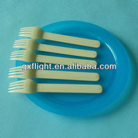 Airline cutlery ivory disposbale plastic fork set