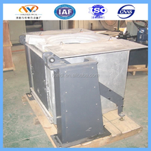 1Ton Industrial alloy steel melting furnace for steel Factory