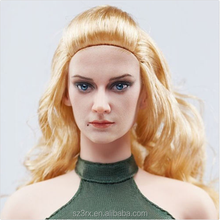 Realistic lovely female 12 inch plastic dolls/custom made plastic human head model figurine/1/6 life size female figurine toys