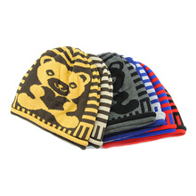 Cheap wholesale fashion animal winter warm kids free knitted beanie hat pattern babies wanted cartoon characters beanie hat