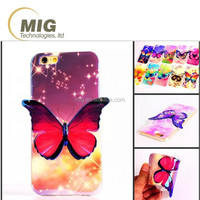 Fashion Colorful 3D Bluray Butterfly soft tpu mobile phone case cover for samsung note 5 4 3 galaxy s3 s4 s5 s6 edge plus +