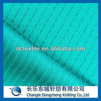 warp knitting jacquard style moisture wicking polyester jersey fabric for T-shirt