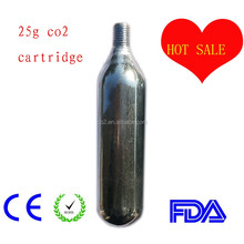 25g co2 pump for bike tire inflator , co2 factory supply most competitive price for you