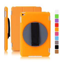 Patent Item Special Design 360 Rotation Handheld Plastic Case PU Smart Front Cover for iPad mini 4