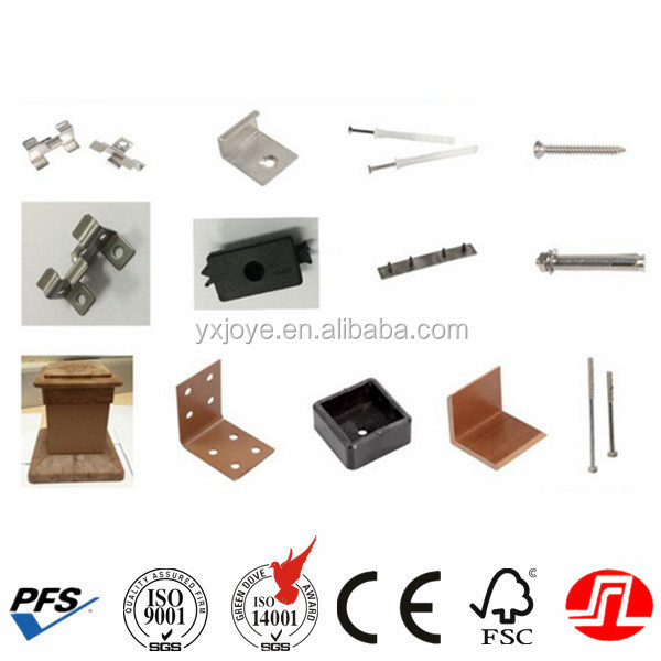 wpc steel clips and screws for wpc flooring/decking