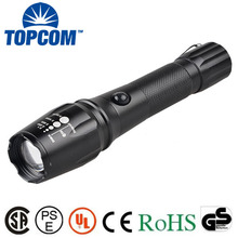 Best Strong Light Flash Zoom Power Style Emergency Led Rechargeable Flashlight