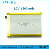 KPL506190 3500mAh high capacity rechargeable li-polymer battery pack li-ion battery for heated blankets