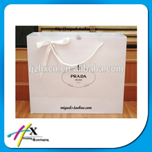 Luxury Unique Shape Handle Paper Shopping Bag With Your Customized Design