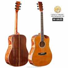 Solid Cedar Wood41 inch Acoustic Guitar in musical instrument store Oriental Cherry
