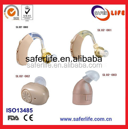 Rechargeable BTE Mini Portable Headphone First Aid Medical Hearing Aid Kit Extra Battery