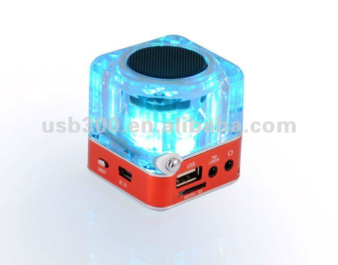 Portable Ditital Mini Speaker USB TF SD Card +FM Radio Speaker For MP3 Phone PC NiZHi TT-029