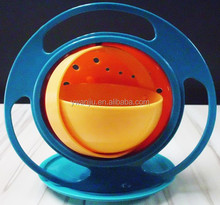 Wholesale Stock Plastic Children Bowl, Rotating bowl