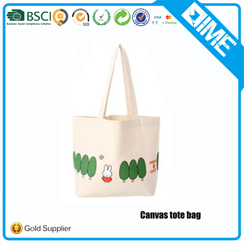 Eco-Friendly Recycled High Quality Oem Canvas Tote Bag With Custom Printed Logo