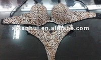 Factory hot hot sale sex animal leopard bra sets underwear for women