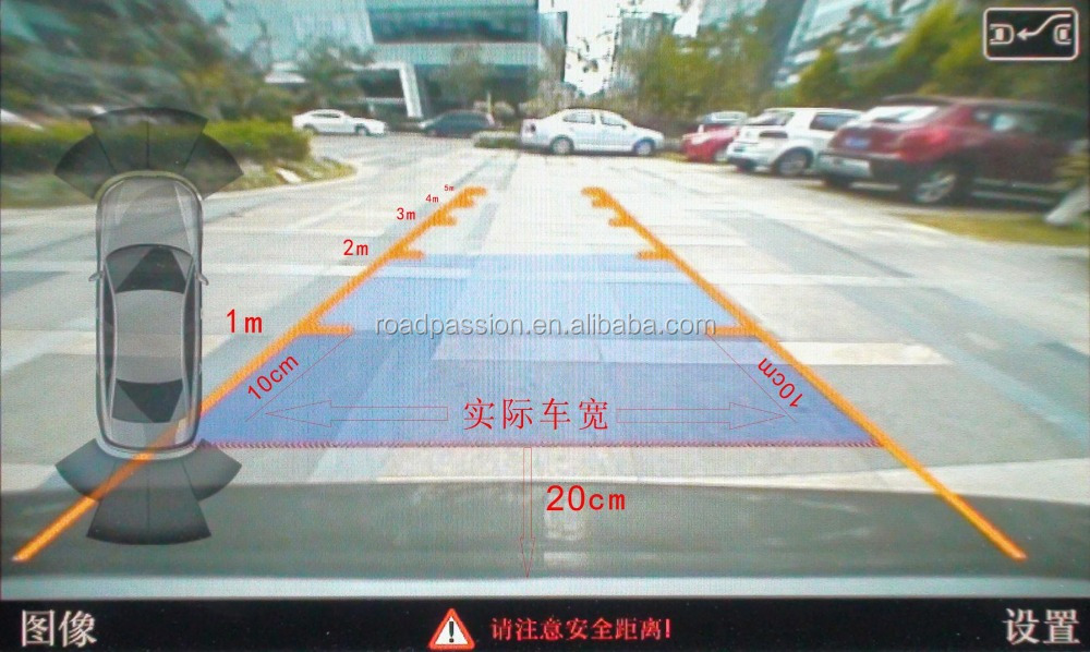 Car Video Interface For Toyota Harrier 2013 Car Rear View Camera With Parking Guidelines