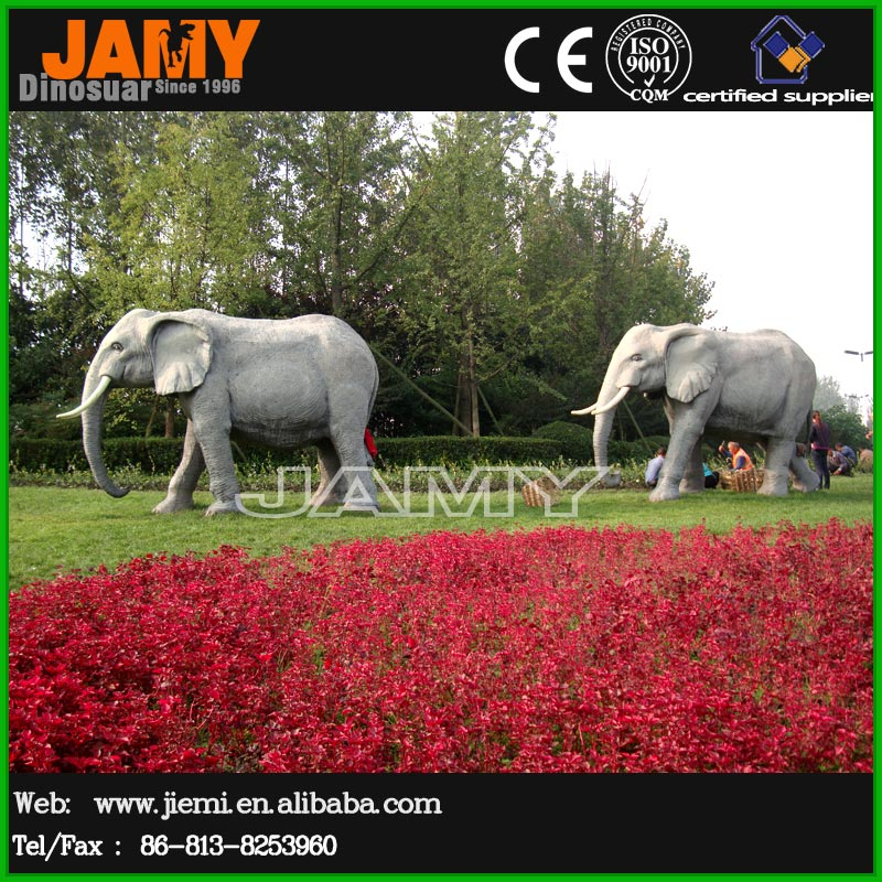 African Animal Statue Simulation Elephant Model
