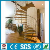 Indoor spiral stairs for small homes