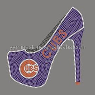 Chicago Cubs high heel shoe Hot-fix Rhinestone Transfers Designs