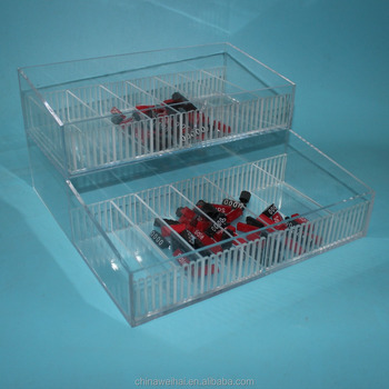 Clear Acrylic Cosmetic Divider Display Box