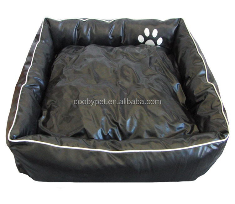 Acceptable Custom Detachable black pu leather pet sofa dog bed sofa