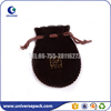 Round bottom shape velvet jewelry gift pouch with printing logo