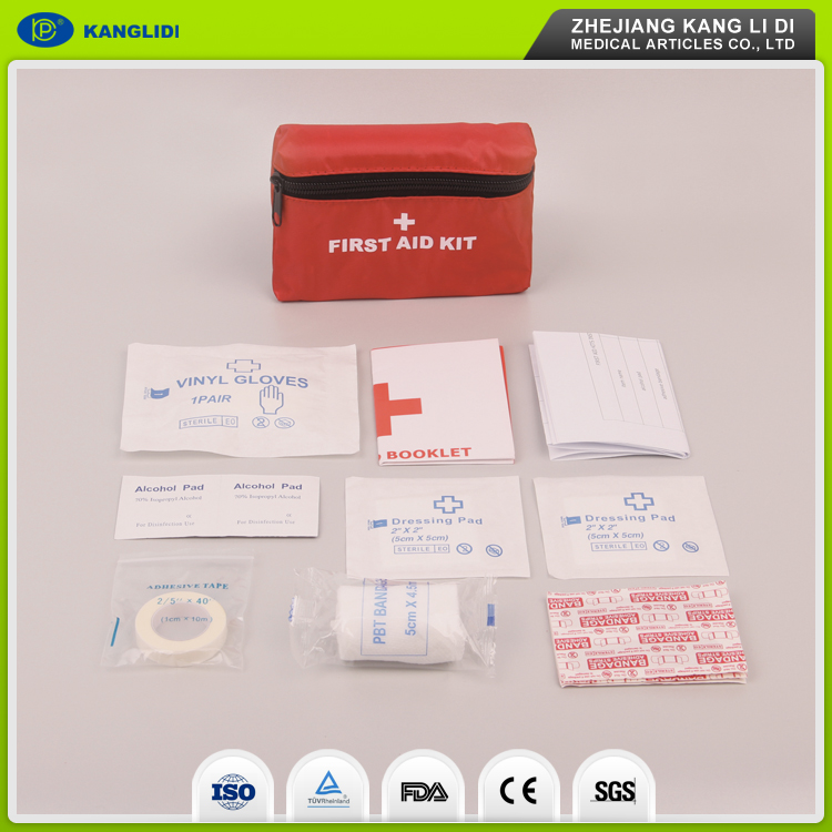KLIDI Top Quality Skillful Manufacture Home Bicycle Emergency First Aid Kit Cpr Face Mask