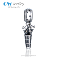 Fashion 925 Sterling Silver Umbrella Charms Bracelets For Women Diy Wholesale S443