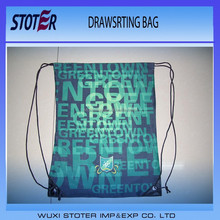 soccer fans drawstring shoe bag with custom printing