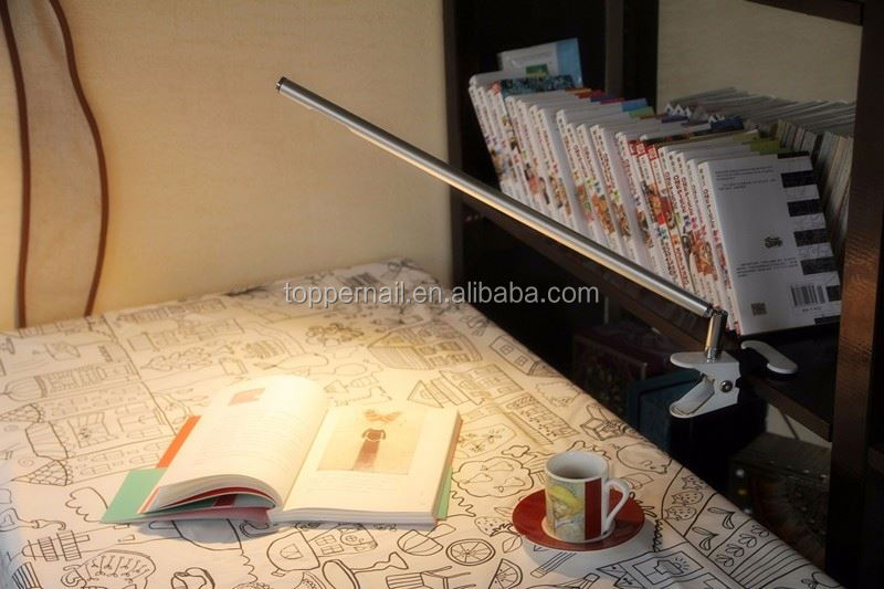Metal channel decorative office reading led table lamp light