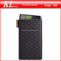 Hot Sale Cager S20 2.0A Input fast charging power bank 10000mAh for mobile phones