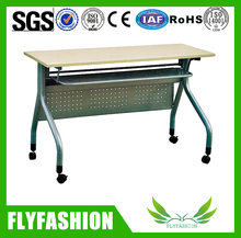 Office meeting Training folding table with wheels computer desk