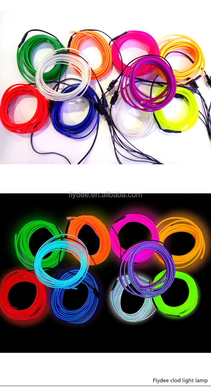Colorful EL products El wire electroluminescent lighting 100m el wire roll
