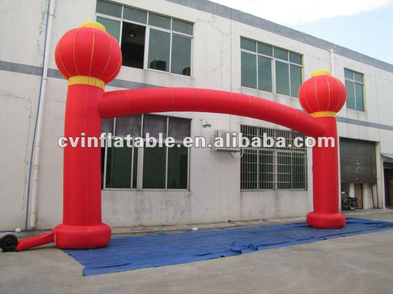 commercial advertising promotion inflatable festival lantern arched entry door
