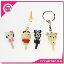 Phone cases earphone jack dust cap plug anti cute phone jack plugs