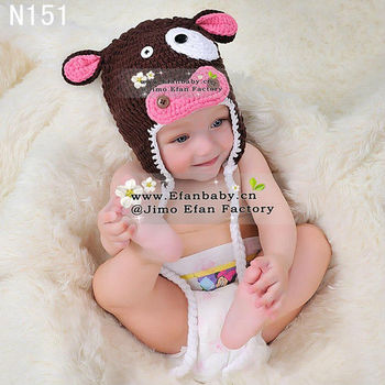 wholesale 2013 hand made baby animal beanies crochet baby hats