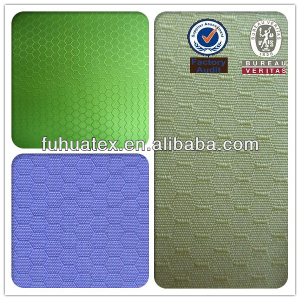 100% Polyester Hexagonal Ripstop Oxford Fabric
