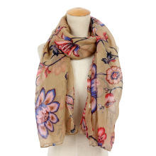 New Arrival Color Solid Voile Sequins Scarf Sunscreen All-match Hijab 100% Cotton Voile Scarf