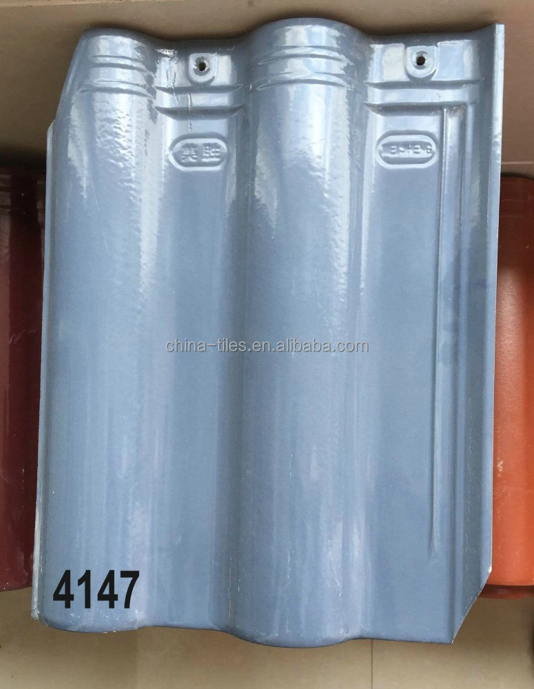 Grey Ceramic clay roof tile